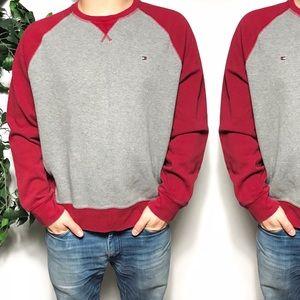 Tommy Hilfiger Gray Ted Raglan Sweatshirt Size XL